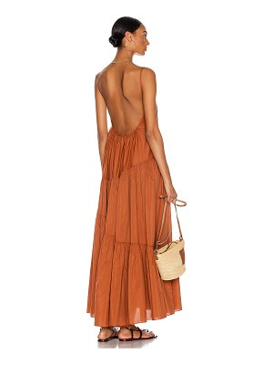 MATTEAU asymmetric tiered sun dress