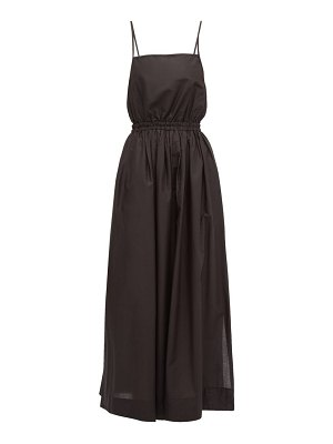 MATTEAU elasticated-waist cotton-poplin maxi dress