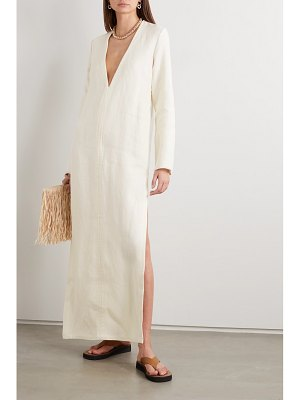 MATTEAU frayed linen maxi dress