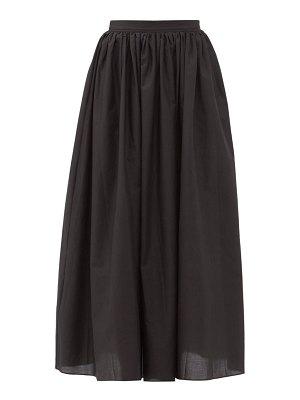 MATTEAU gathered cotton maxi skirt