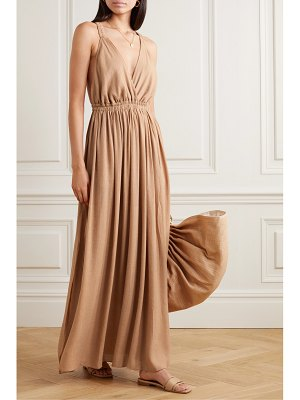 MATTEAU gathered crepon maxi dress