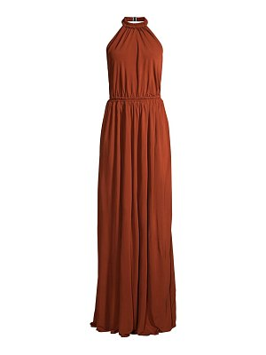 MATTEAU halterneck maxi dress
