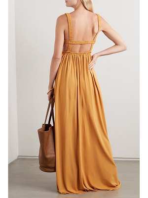 MATTEAU net sustain gathered jersey maxi dress