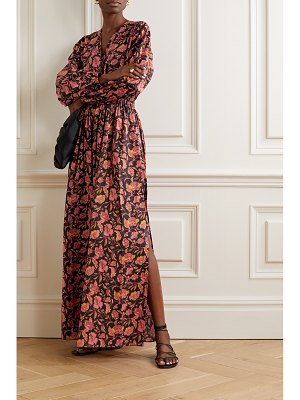 MATTEAU open-back floral-print cotton-poplin maxi dress