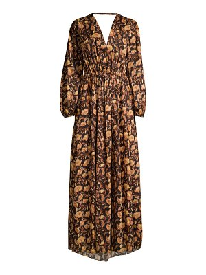 MATTEAU puff-sleeve maxi dress