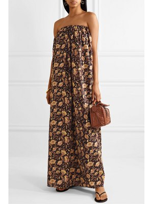 MATTEAU strapless floral-print cotton-poplin maxi dress