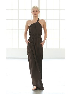 MATTEAU asymmetric halter jersey maxi dress