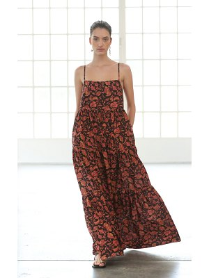 MATTEAU floral-print cotton-poplin maxi dress