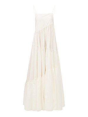 MATTEAU the asymmetric tiered cotton-blend maxi dress