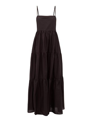 MATTEAU the tiered low back cotton-poplin maxi dress