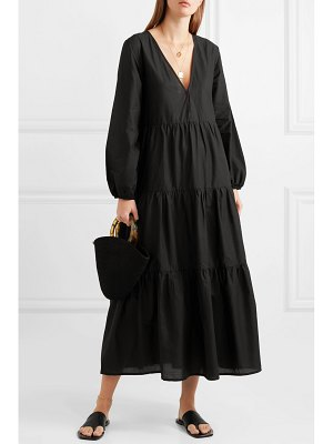 MATTEAU tiered cotton-poplin maxi dress