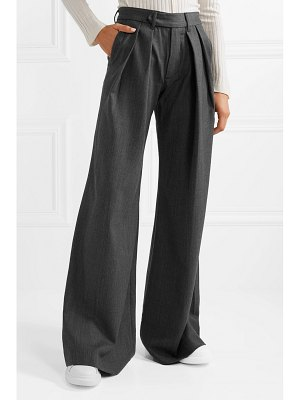 Matthew Adams Dolan herringbone wide-leg pants