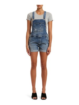 Mavi Jeans wanda used ripped denim short overalls