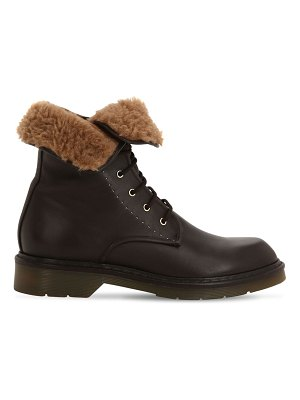 Max Mara 20mm beverly leather combat boots
