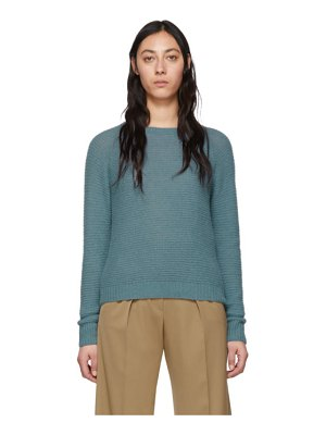 Max Mara blue cashmere and silk ciad sweater