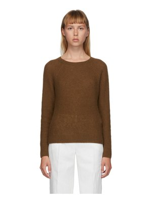Max Mara brown cashmere satrapo sweater
