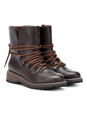 Max Mara calle leather ankle boots