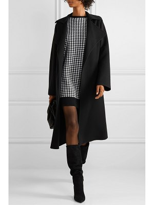 Max Mara canale houndstooth wool and cashmere-blend mini dress