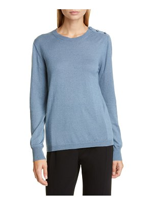 Max Mara caraibi shoulder button silk & cashmere sweater