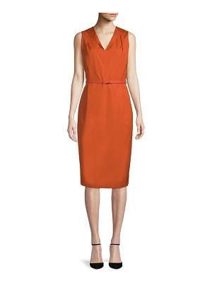 Max Mara Dattero Cotton Sheath Dress