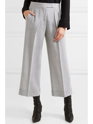 Max Mara dax cropped prince of wales checked wool wide-leg pants