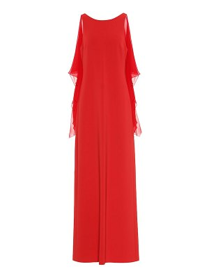 Max Mara dovere georgette and cady gown