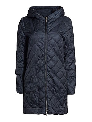 Max Mara enovel reversible quilted longline jacket