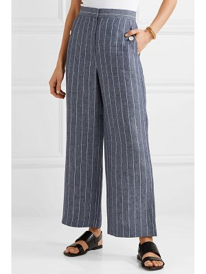 Max Mara formia cropped pinstriped linen wide-leg pants