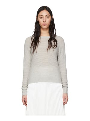 Max Mara grey cashmere and silk ciad sweater