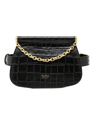 Max Mara jana croc-effect leather belt bag