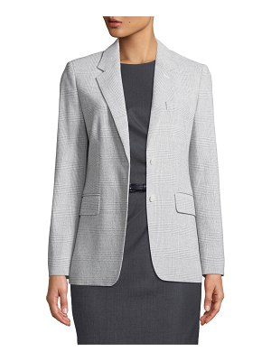 Max Mara Kent Glen-Check Wool Blazer Jacket