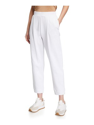 Max Mara Leisure High-Rise Jersey Ankle Pants