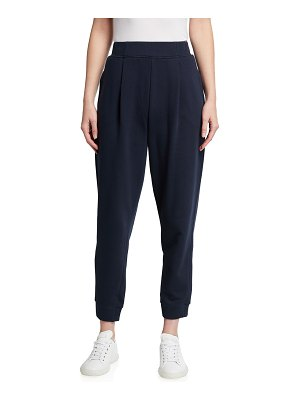 Max Mara Leisure Pleated Jersey Ankle Pants