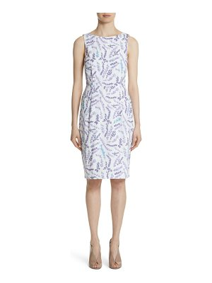 Max Mara melfi print cotton sheath dress
