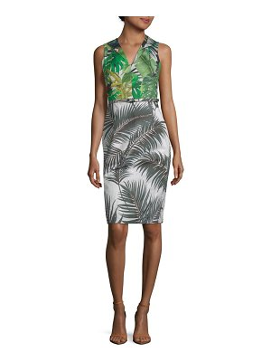 Max Mara Oppio Printed Cotton Sheath Dress