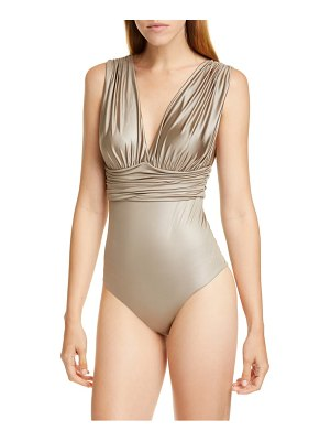 Max Mara oritsei ruched one-piece swimsuit