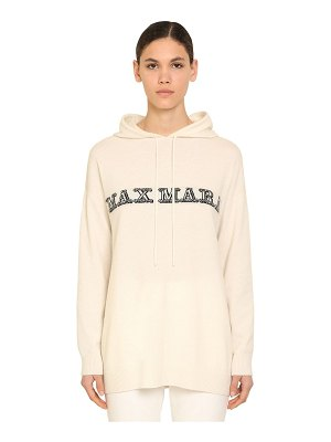 Max Mara Oversize hooded cashmere knit sweater