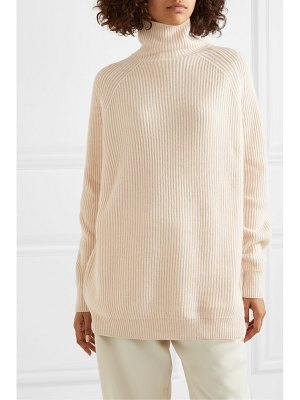 Max Mara ribbed and waffle-knit wool and cashmere-blend turtleneck sweater