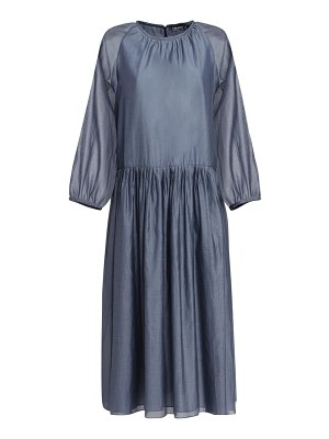 MAX MARA 'S Adatti voile cotton & silk midi dress