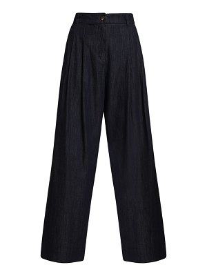 MAX MARA 'S Borel cotton denim wide leg pants