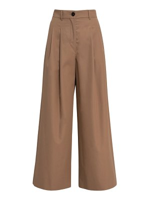 MAX MARA 'S Crochet cotton gabardine wide leg pants