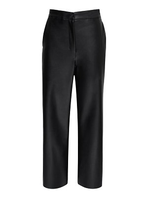 MAX MARA 'S High waist faux leather wide leg pants