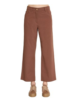 MAX MARA 'S Straight leg cotton canvas pants