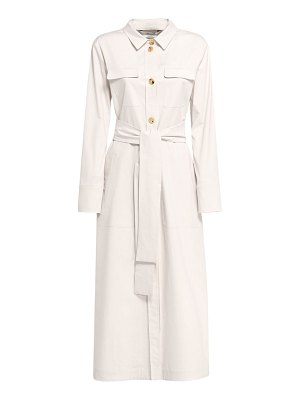 MAX MARA 'S Zinco buttoned cotton gabardine dress