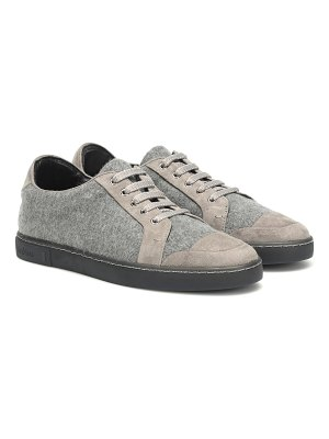 Max Mara suede-trimmed sneakers