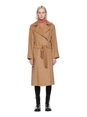 Max Mara tan camel manuela icon coat