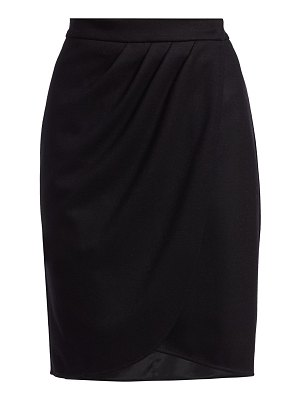 Max Mara tarso draped wool skirt