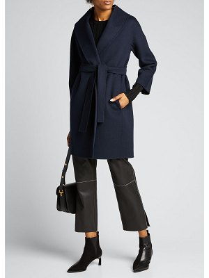 Max Mara The Cube Messi Virgin Wool Wrap Coat