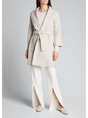 Max Mara The Cube Virgin Wool Wrap Coat