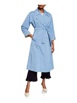 Max Mara The Cube Water-Repellent Faille Trench Coat